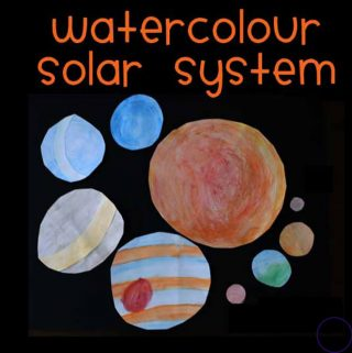 Create this fun watercolour solar system, which could be turned into a mobile, while learning about space and the planets.