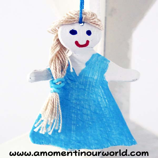 Frozen Inspired Clay Christmas Ornaments 1