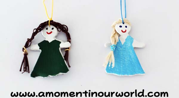 Frozen Inspired Clay Christmas Ornaments 7