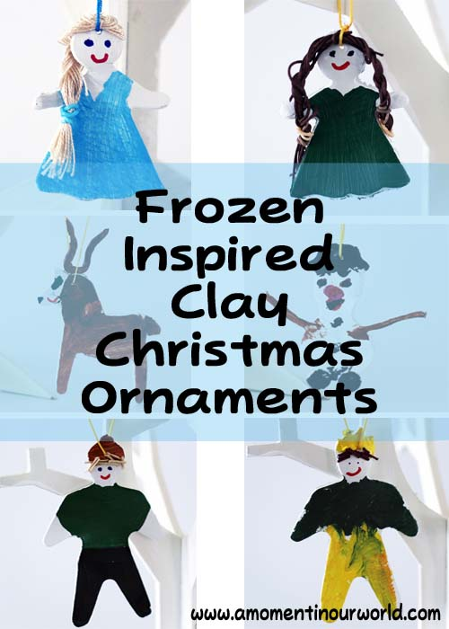 Frozen Inspired Clay Christmas Ornaments