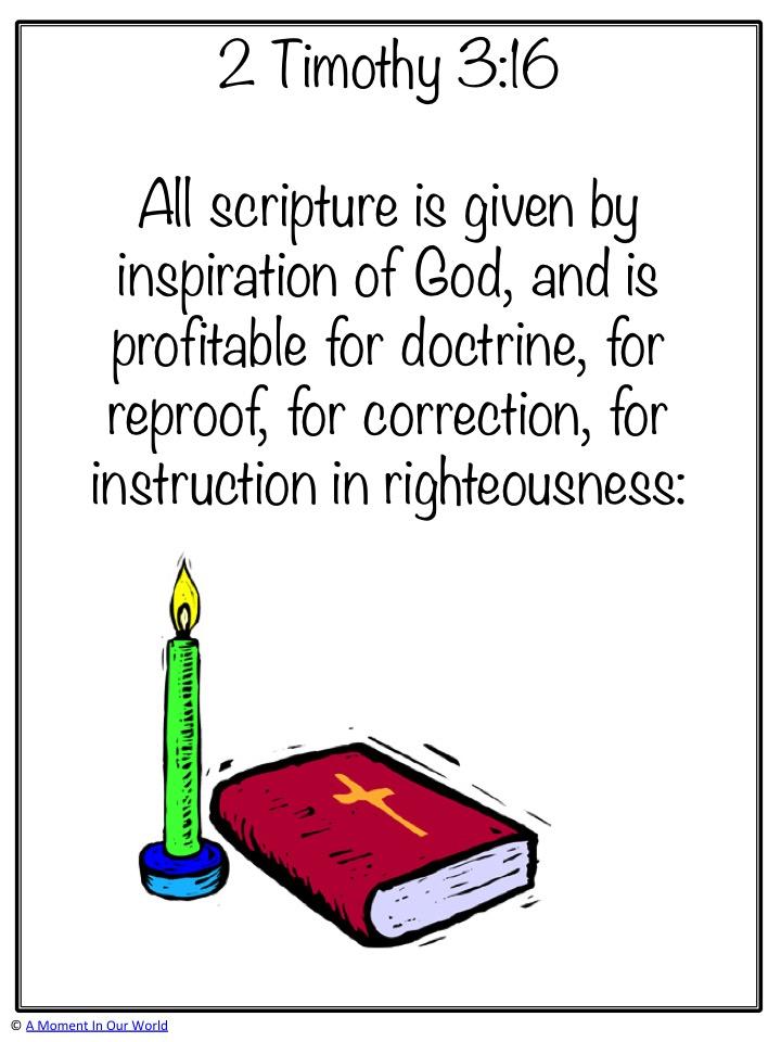 Monday Memory Verse: 2 Timothy 3:16