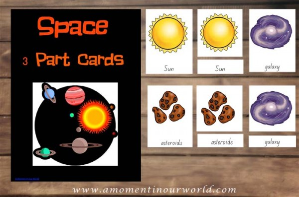 Space 3 Part Cards Picture