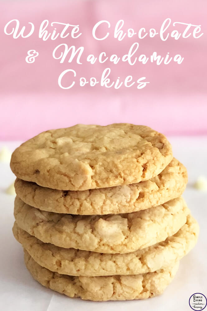 These yummy white chocolate and macadamia cookies are so lovely and crunchy and go well with a nice warm cuppa when visiting with friends.