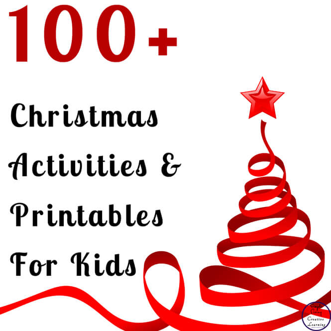 100+ Christmas Activities & Printables that your kids will love while having a wonderful time practicing & reviewing their math & literacy skills while having fun.