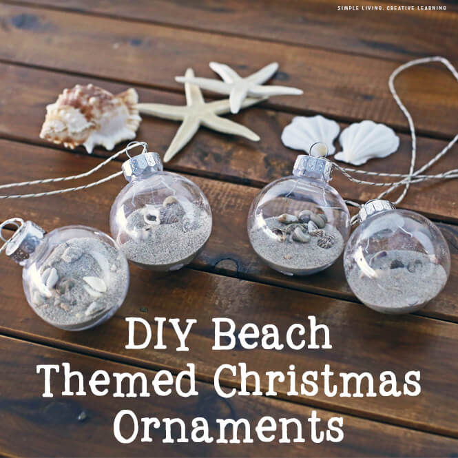 DIY Beach Themed Christmas Ornaments