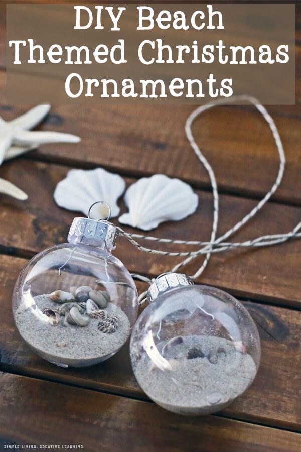 DIY Beach Themed Christmas Ornaments