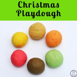 This gorgeous smelling Christmas Playdough using essential oils and spices to bring the holiday season smells into learning.
