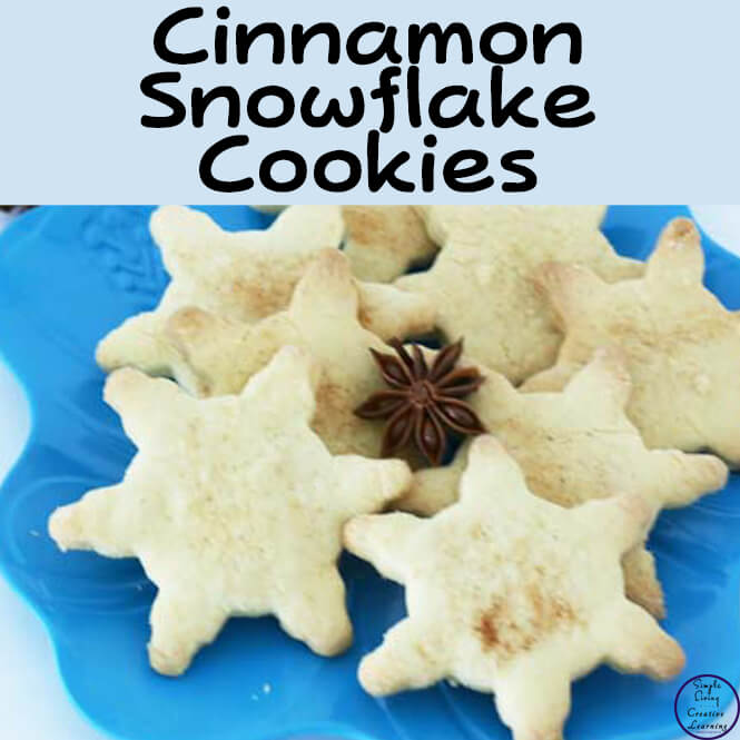 These yummy Cinnamon Snowflake Cookies are easy for kids to make on their own, and taste delicious! THey make a great addition to a winter themed unit.