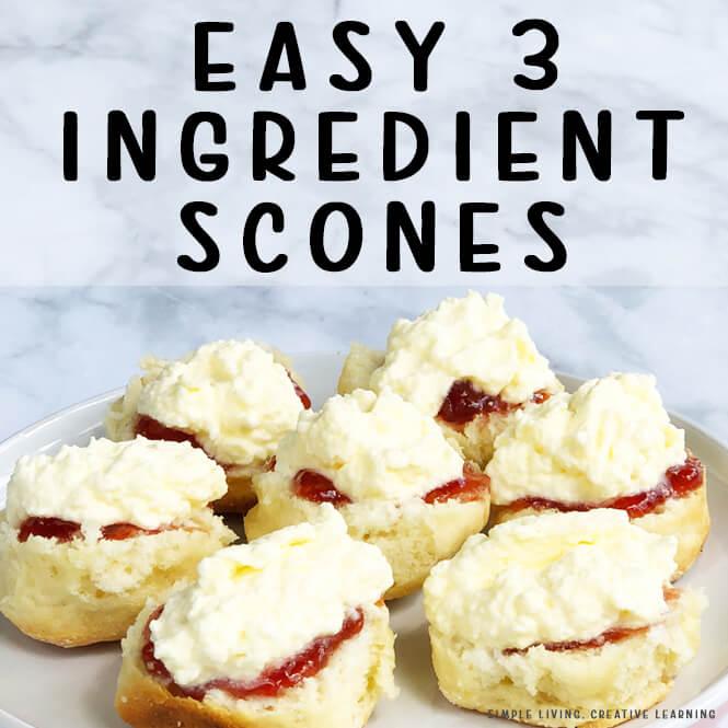 Easy 3 Ingredient Scones