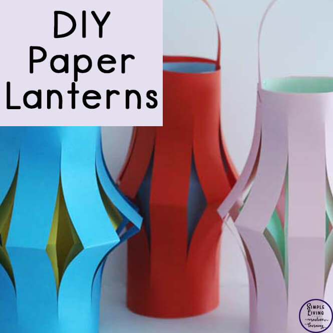 These cute paper lanterns are easy to make and fun to decorate your house with.
