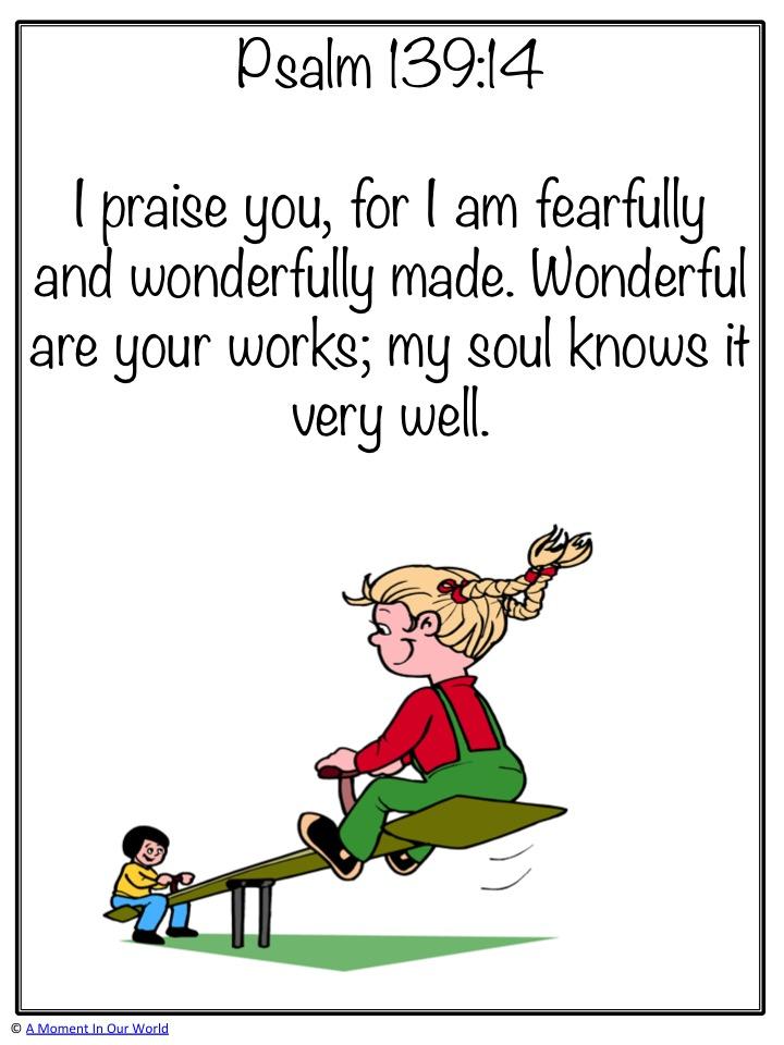 Monday Memory Verse: Psalm 139:14