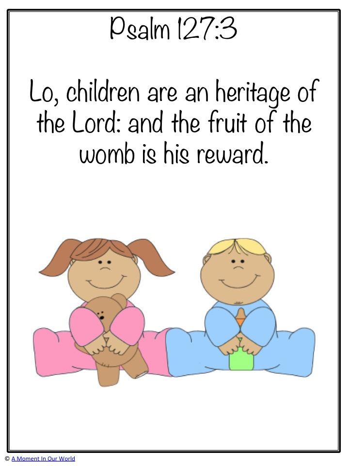 Monday Memory Verse: Psalm 127:3