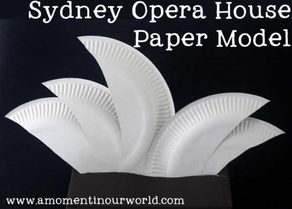 Sydney Opera House Paper Model Simple Living Creative
