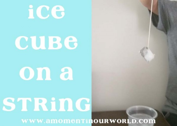 ice cube on string