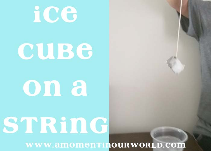 Lift an Ice Cube on a String