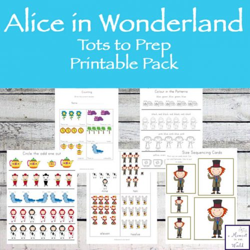 Alice In Wonderland Tots to Prep Pack