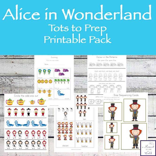 Alice In Wonderland Tots to Prep Pack