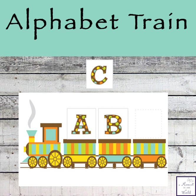 The Alphabet Train can be used to learn the alphabet and is also great for spelling.
