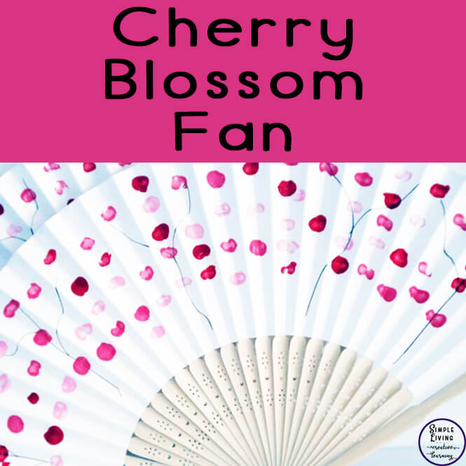 Decorating and making these Cherry Blossom Fans are a great hands-on project that would go well with any Asian or Cherry Blossom study.