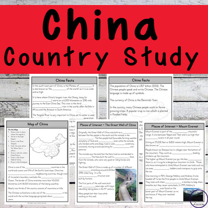 This China Unit has loads of information on the Chinese culture, the Great Wall of China and more.