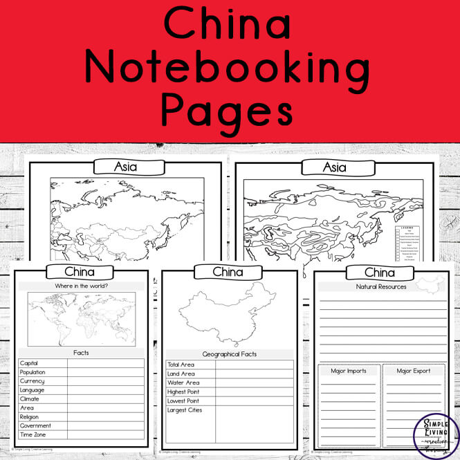 China Notebooking Pages