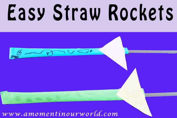 Easy Straw Rockets