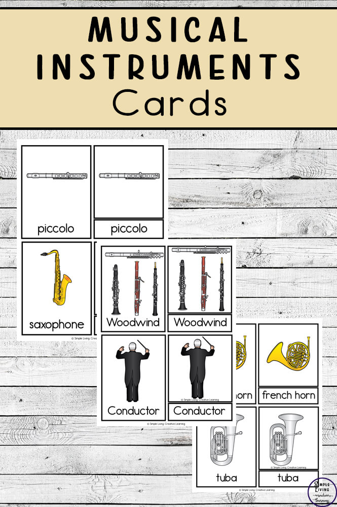 graphic regarding Printable Pictures of Musical Instruments referred to as No cost Printable Musical Tool Playing cards - Straightforward Dwelling