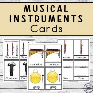 Musical instruments cards