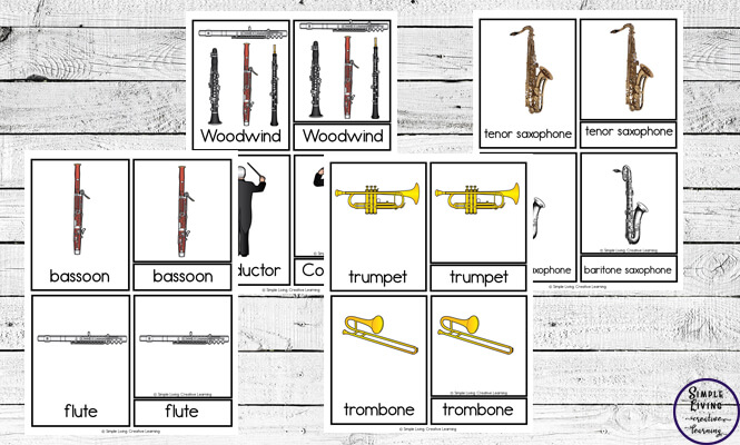 These musical instruments cards is a great way to encourage children to learn about the instruments that make up an orchestra.