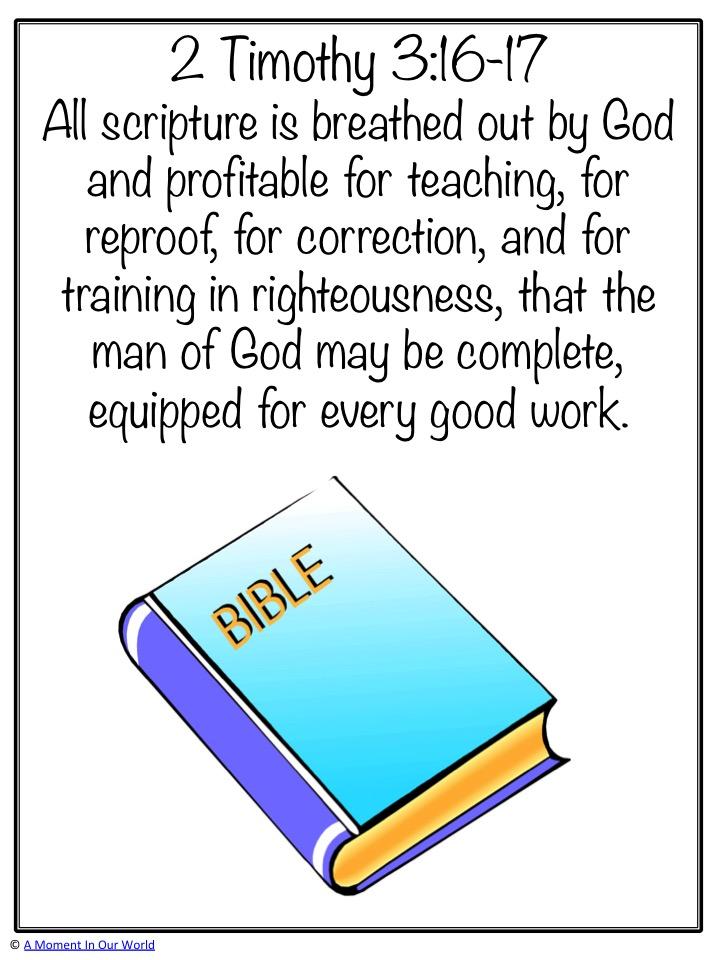 Monday Memory Verse: 2 Timothy 3:16-17