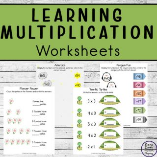Learning multiplication can be fun with these vibrant printable posters and worksheets. These are great for children just learning to multiply.