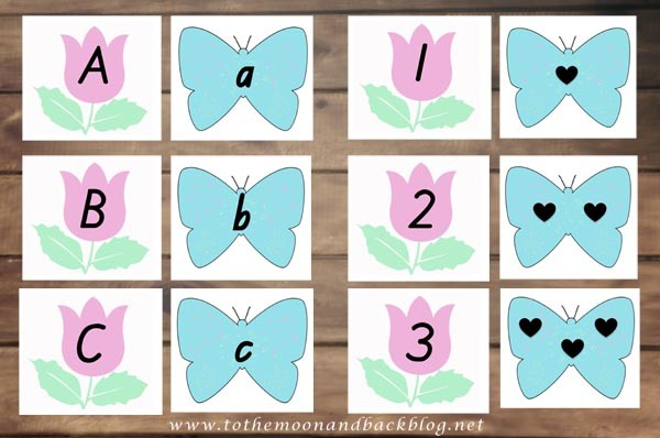 Butterfly Game Cards Matching