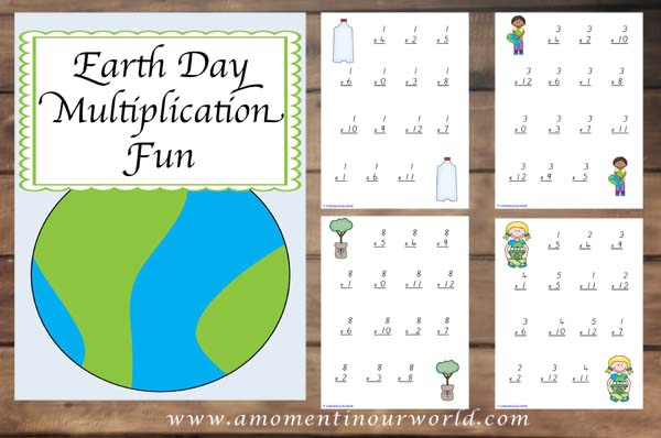 Earth Day Multiplication Pages