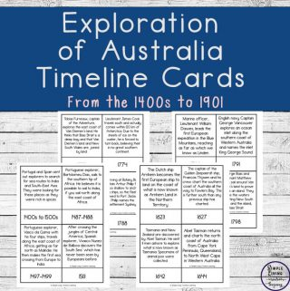 A great way to learn about the history of Australia is with these Australian Exploration Cards.