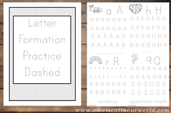 Letter Formation Practice Dashed