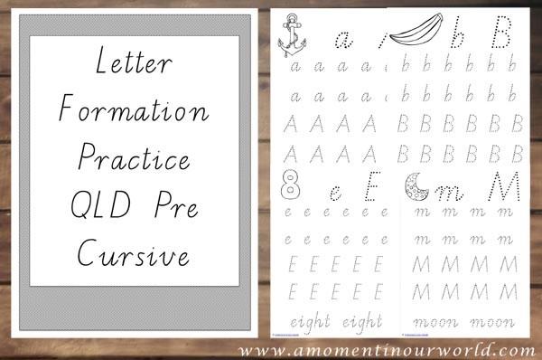 Letter Formation Practice QLD Pre Cursive