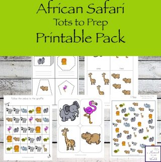 Take a journey to Africa with this funAfrican Safari Tots to Prep Packthat is jam-packed with exciting activities for little ones, ages 2 - 8.