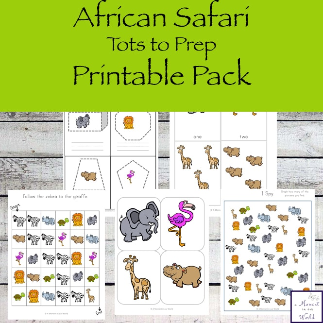 Take a journey to Africa with this fun African Safari Tots to Prep Pack that is jam-packed with exciting activities for little ones, ages 2 - 8.