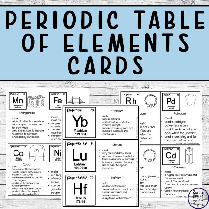 These Periodic Table of Elements Cards and Notebooking pages are great for helping children understand the different elements.