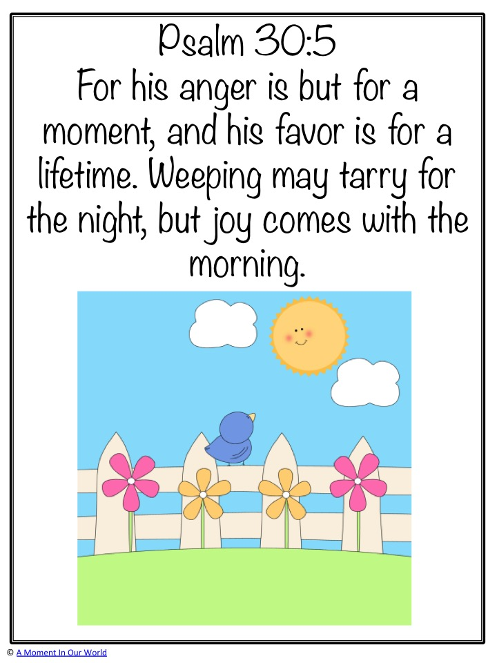 Monday Memory Verse: Psalm 30:5