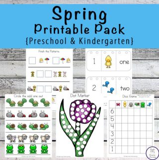 Spring also includes a bit of rain, so on these wet days, children will have fun learning with this Spring Printable Pack {Preschool and Kindergarten}.