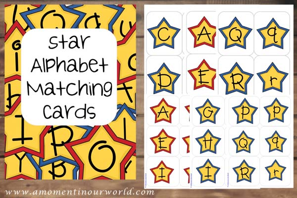 Star Alphabet Matching Cards