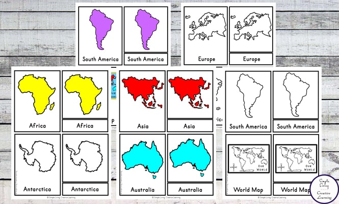 This is a photo of Map of Continents and Oceans Printable in kindergarten