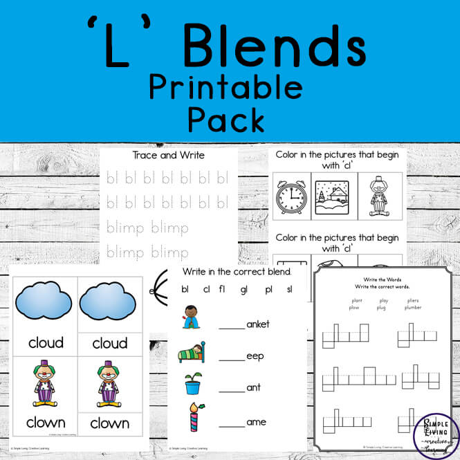 With this 'L' Blends Fun Pack, children will enjoy learning the BL, CL, Fl, GL, PL, and SL Blends through a variety of activities.