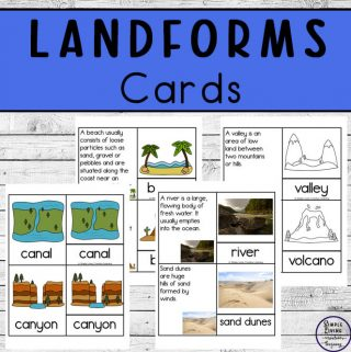 These landform cards are great for learning about thirty-two different types of landforms.