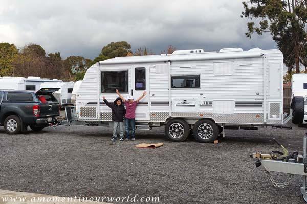 Picking Up Caravan