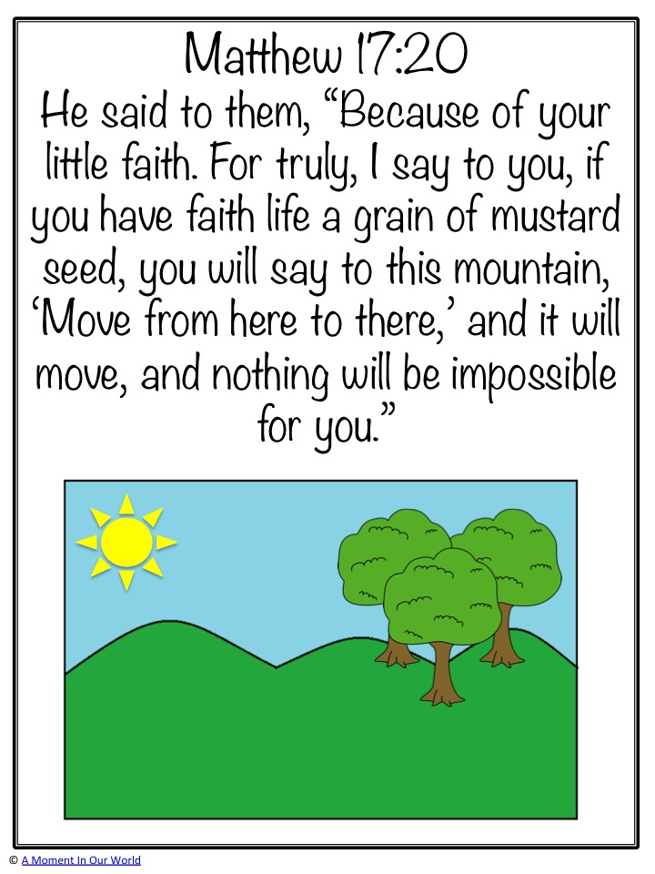 Monday Memory Verse: Matthew 17:20