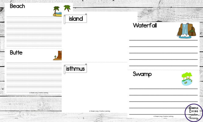 This landform booklet is a great way to encourage children to research each of the 32 different landforms and write what they find.
