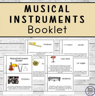 Musical instruments booklet