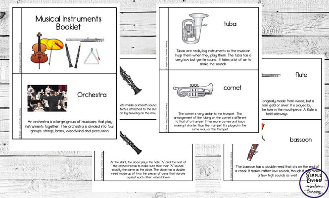 graphic regarding Free Printable Lap Harp Music Cards called Musical Resources Booklet - Very simple Dwelling. Resourceful Understanding